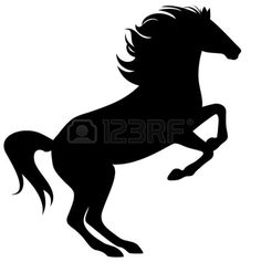 Running Horse Outline: Ford Mustang Running Horse Decal, Running ...