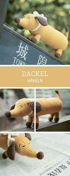 Häkelanleitung für einen Amigurumi Dackel / diy crochet pattern for a dachshund via DaWanda.com