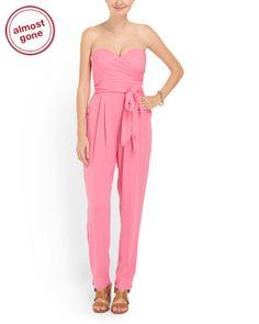 0ea034e546a Silk Blend Effie Jumpsuit - Dresses - T.J.Maxx