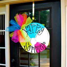 Summer Door Hanger beachball Door Decoration by LooLeighsCharm, $45.00