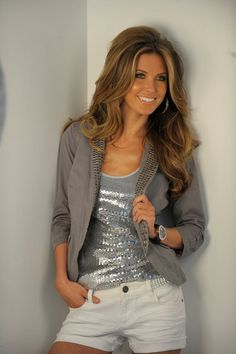 Audrina Patridge. Her hair is perfectly voluminous and curly omg