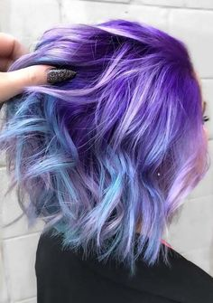 Like other gorgeous and top hair colors purple is also one of those colors which offers so much various shades to fashionable ladies. Like lavender, purple plum and violet are some of the examples which you can see here. This is best hair color style which you definitely try in this year. Check out these cute ideas.