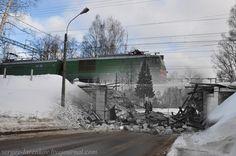 Терийоки / Зеленогорск, 1939/2011. Разрушенный железнодорожный мост.  Soviet-Finnish War(1939-1940). Destroyed railway bridge in Terijoki / Zelenogorsk, 1939/2011(