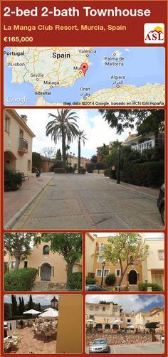 2-bed 2-bath Townhouse in La Manga Club Resort, Murcia, Spain ►€165,000 #PropertyForSaleInSpain