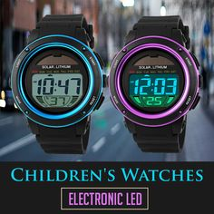 Children's Watches Electronic LED Children's Watches, Led, Electronics