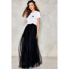 Nasty Gal Tulle For You Maxi Skirt