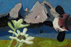 """EvaSchlitzer """"Der Watzmann ruft"""", 80 x 100, Acryl auf Leinen, 2013"""