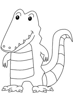 crocodile animals coloring pages