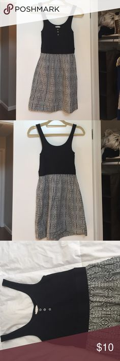 American eagle sundress Black top, black and white patterned skirt sundress. Tiny hole where tag is. American Eagle Outfitters Dresses Mini