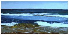 Olas en la orilla Miguel CAÑAMÁS MONZONÍS - Olas en la orilla (Pintura),  60x30 cm por Miguel CAÑAMÁS MONZONÍS Título: Olas en la orilla Materiales: Acrílico sobre lienzo Dimensiones: 60x30cm. Realizada en enero de 2016 Marina de una playa del este de España, a orillas del Mediterráneo.