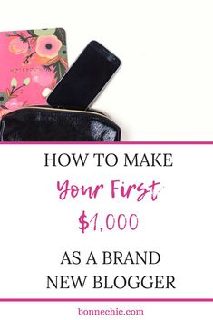 Earning your first $1,000 as a brand new blogger is the best feeling it in the world. It means you have created a successful blog and you're able to scale it and take it to new heights. Starting a blog has been so much fun for me. #moneytips #learntoblog Make Money Blogging, Money Tips, Make Money Online, How To Make Money, Make Blog, How To Start A Blog, Blog Layout, Blog Planner, Business Tips