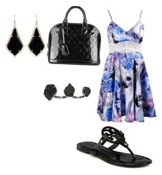 """Untitled #42"" by gracie-mccollough on Polyvore featuring Tory Burch, Kendra Scott and Louis Vuitton"