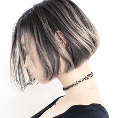Blunt Bob& funny haircuts you& love Hair Color Purple, Hair Color And Cut, Pretty Hairstyles, Bob Hairstyles, Bob Haircuts, Pelo Ulzzang, Medium Hair Styles, Short Hair Styles, Hair Arrange