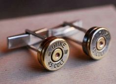 Items similar to Shoot 'em Up Bullet Cufflinks copper backed on Etsy Mode Man, Bullet Shell, Bullet Art, Sharp Dressed Man, Swagg, Just In Case, Men Dress, Fashion Accessories, Cufflinks