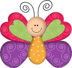 ® Colección de Gifs ®: IMÁGENES DE MARIPOSAS Kids Crafts, Diy And Crafts, Arts And Crafts, Decoupage, Butterfly Birthday Party, Clip Art, Paper Butterflies, Punch Art, Paper Piecing
