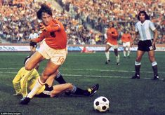 Cruyff represented Holland on 48 occasions and scored 33 times for the national side, helping them reach the final at the 1974 World Cup