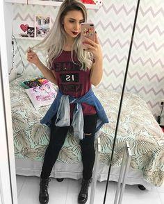 "10.1k Likes, 200 Comments - Janaína Taffarel (@janataffarel) on Instagram: ""Look de ontem jeans com jeans """