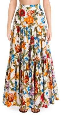 Dolce & Gabbana Dolce E Gabbana Women's Multicolor Cotton Skirt Cotton Maxi Skirts, Printed Maxi Skirts, Long Maxi Skirts, Floral Skirts, Floral Maxi, Skirt Outfits Modest, Edgy Outfits, Fashion Outfits, Tiered Skirts