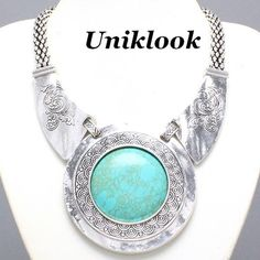 This is soooo me! Fashion Jewelry Necklaces, Metal Necklaces, Jewelry Accessories, Cowgirl Chic, Necklace Extender, Cowgirl Jewelry, Turquoise Stone, Statement Jewelry, Turquoise Necklace