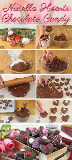 Cómo hacer Nutella Candy Hearts | Desde OhNuts.com