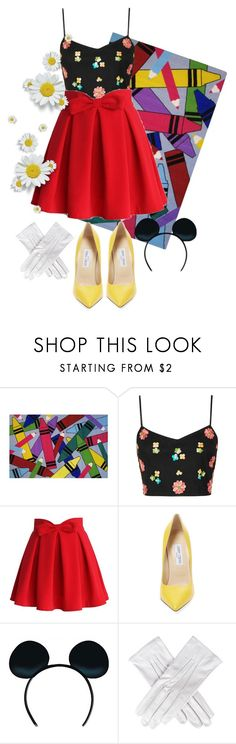 """Micky"" by hazeldazzle ❤ liked on Polyvore featuring Fun Rugs, Topshop, Chicwish, Jimmy Choo and Black"