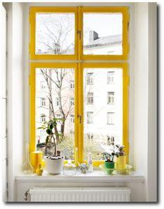 Yellow Painted Window