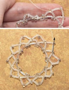 Beaded Netting Holiday Ornament Cover: Stitch the Second Round