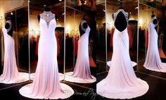 Lilac Jersey Prom or Pageant Dress-High Beaded Neckline-Low Open Back-115BP0X23200375