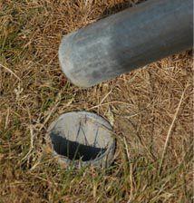 shade sail pole pully install