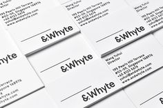 And Whyte Branding by Nout Studio  http://mindsparklemag.com/design/and-whyte-branding/