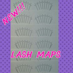 New lash maps for the perfect  lash extensions