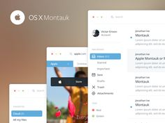 Apple OSX Montauk by Victor Erixon TAGS: #ui #osx #mail