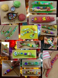 """Play dough snakes and worms for pattern and length work from Rachel ("""",) Eyfs Activities, Spring Activities, Activities For Kids, Maths Eyfs, Eyfs Classroom, Measurement Activities, Indoor Activities, Minibeasts Eyfs, Art For Kids"""