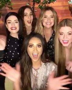 "152.2k Likes, 583 Comments - Pretty Little Liars (@prettylittleliars) on Instagram: ""The prettiest. The littlest. Our Liars. ❤ #PLL #PrettyLittleLiars  BTS video via @TheEllenShow."""