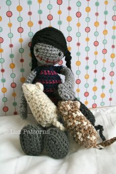 Crochet patterns, Crochet doll pattern, Amigurumi crochet doll toy pattern, Halloween doll pattern #crochetpatterns #crochet
