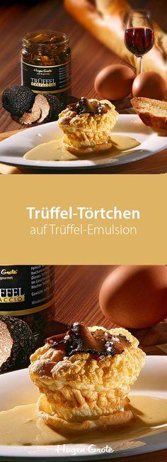 Trüffel-Törtchen auf Trüffel-Emulsion