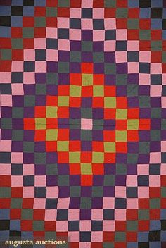 Amish wool pieced quilt, early 20th C