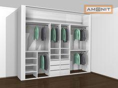 Ukázka vnitřního uspořádání vestavěné skříně - 17. varianta