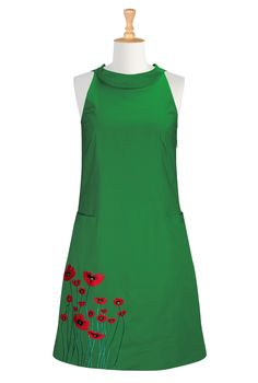 Poppy field shift dress