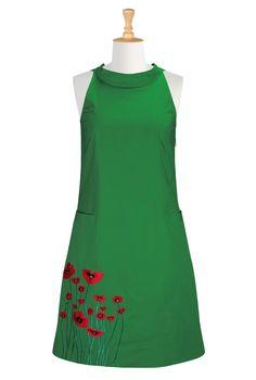 Poppy field shift dress