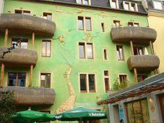 Kunsthofpassage Singing Drain Pipes, Dresden, Germany