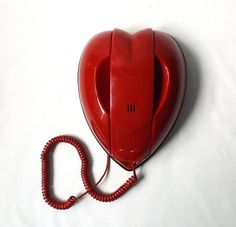 vintage 1980's red heart phone telephone by RecycleBuyVintage, $30.00