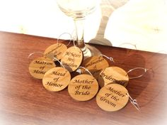 Bridal Shower Wine Glass Charms Wedding Shower Wine Tags