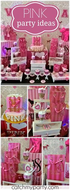 Such a glamorous Victoria Secret girl birthday party! See more party ideas at Catchmyparty.com!
