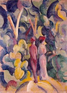 August Macke,Couple On The Forest Track