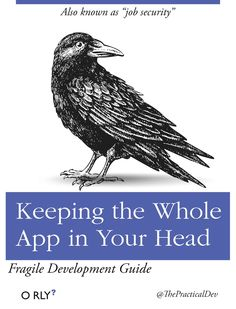 "O RLY book \ Also known as ""job security"" \ Keeping the Whole App in Your Head \ Fragile Development Guide \ ThePracticalDev Science Books, Computer Science, Computer Humor, Programming Humor, Work Jokes, Tech Humor, Job Security, Funny Images, The Funny"