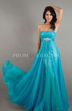 Be ready to sport something unique and never seen before with this artistically designed chiffon beaded dress. The sheer lining of the chiffon above the bead studded inner dress has given this look its uniqueness and charm. http://www.promgoers.com/ :)