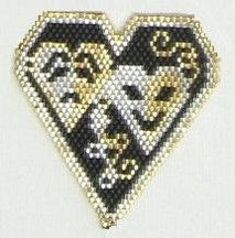 Shakespeare In Love Pendant Pattern from Bead Art by Ronit!