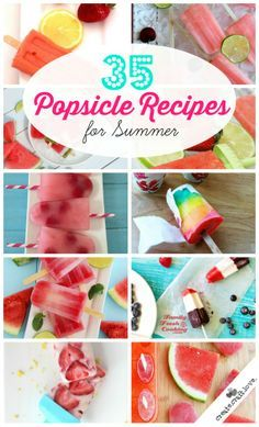 35 Popsicle Recipes for Summer Time- great for cooling off and snacking at the same time! Mini Desserts, Frozen Desserts, Frozen Treats, Delicious Desserts, Dessert Recipes, Yummy Food, Milk Shakes, Oreo Dessert, Popsicle Recipes
