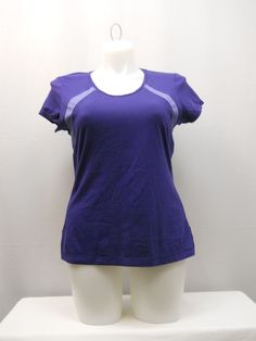5b15f6aff21f6 Danskin Now Womens Sport Top Size XL Activewear Moisture Wicking Yoga Jog  Purple  Danskin